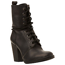 Buy Steve Madden Jupiter Block Heeled Lace Up Ankle Boots Online at johnlewis.com