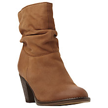 Buy Steve Madden Welded Slouch Leather Ankle Boots Online at johnlewis.com