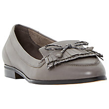 Buy Dune Guinevere Fringe Detail Loafers, Grey Online at johnlewis.com
