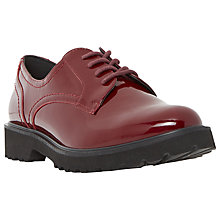 Buy Dune Filipo Lace Up Brogues, Burgundy Patent Online at johnlewis.com