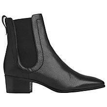 Buy L.K. Bennett Frankie Leather Ankle Boot, Black Online at johnlewis.com