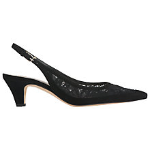 Buy L.K. Bennett Lori Slingback Kitten Heeled Court Shoes, Black Online at johnlewis.com