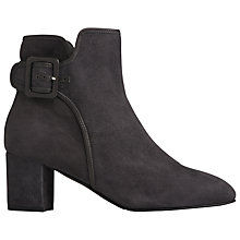 Buy L.K. Bennett Siara Block Heeled Ankle Boots, Smoke Suede Online at johnlewis.com