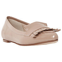 Buy Dune Gersey Leather Slipper Cut Fringe Detail Loafer, Camel Online at johnlewis.com
