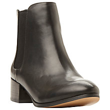 Buy Steve Madden Jodpher Chelsea Boots, Black Leather Online at johnlewis.com