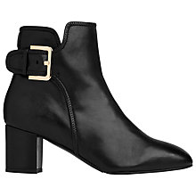 Buy L.K. Bennett Siara Block Heeled Ankle Boots, Black Leather Online at johnlewis.com