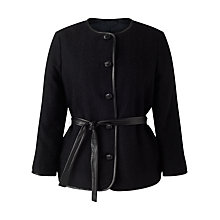 Buy Jigsaw Herringbone Jacket, Black Online at johnlewis.com