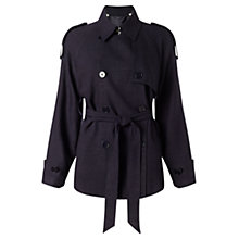 Buy Jigsaw Cropped Trench Coat, Navy Online at johnlewis.com