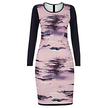 Buy Damsel in a dress Damson Dusk Print Dress, Pink/Multi Online at johnlewis.com