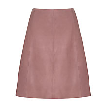 Buy Jigsaw A-Line Leather Skirt, Fawn Online at johnlewis.com