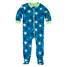 Buy Hatley Baby's Star Print Fleece Sleepsuit, Blue Online at johnlewis.com