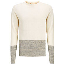 Buy Scotch & Soda Home Alone Linen Mix Jumper, Ecru/Grey Online at johnlewis.com