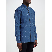 Buy Scotch & Soda Polka Dot Denim Shirt, Indigo Online at johnlewis.com