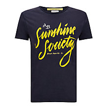 Buy Scotch & Soda Sunshine Society T-Shirt, Midnight Online at johnlewis.com