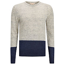 Buy Scotch & Soda Home Alone Two Tone Knit Jumper, Grey/Navy Online at johnlewis.com