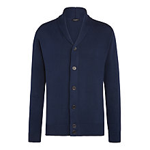 Buy John Smedley Mainsail Button Cardigan, Deep Blue Online at johnlewis.com