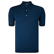 Buy John Smedley Adrian Polo Shirt, Indigo Online at johnlewis.com