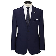 Buy Ted Baker Shareg Crossweave Wool Regular Fit Suit Jacket, Blue Online at johnlewis.com