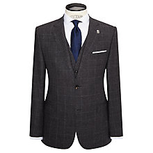 Buy Ted Baker Maltez Melange Windowpane Regular Fit Suit Jacket, Grey Online at johnlewis.com