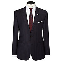 Buy Ted Baker Modwol Shadow Stripe Modern Fit Suit Jacket, Charcoal Online at johnlewis.com