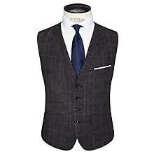 Buy Ted Baker Maltez Melange Windowpane Regular Fit  Waistcoat, Grey Online at johnlewis.com