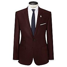 Buy Ted Baker Modpoi Wool Flannel Modern Fit Suit Jacket, Burgundy Online at johnlewis.com