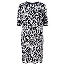 Buy Jigsaw Silhouette Leaf Silk Dress, Multi Online at johnlewis.com