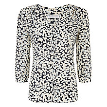 Buy Fenn Wright Manson Lily Print Blouse, Black/White Online at johnlewis.com