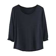 Buy Poetry Scoop Neck Linen T-Shirt, Blue Black Online at johnlewis.com