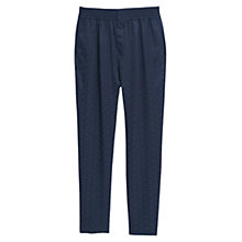 Buy Mango Printed Baggy Trousers, Navy Online at johnlewis.com
