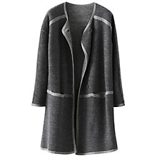 Buy Poetry Merino Wool Coatigan, Dark Grey Online at johnlewis.com