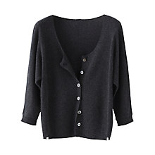 Buy Poetry Pure Cashmere Cardigan, Charcoal Online at johnlewis.com
