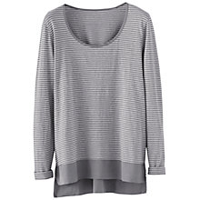 Buy Poetry Striped Jersey Top, Soft Grey Online at johnlewis.com
