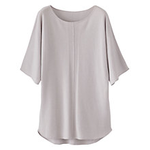 Buy Poetry Cashmere Ribbed Tunic Top, Pearl Grey Online at johnlewis.com
