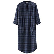 Buy Poetry Checked Wool Blend Dress, Midnight Blue Online at johnlewis.com