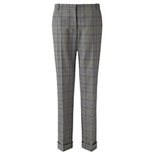 Buy Jigsaw London Check Trousers, Pale Grey Online at johnlewis.com
