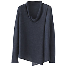 Buy Poetry Crossover Panel Sweater, Blue Black Online at johnlewis.com