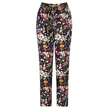 Buy Oasis Midnight Garden Print Trousers, Multi Online at johnlewis.com