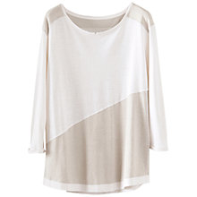 Buy Poetry Colour Block Jersey Top, Pearl White Online at johnlewis.com