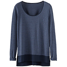 Buy Poetry Striped Jersey Top, Dark Blue Online at johnlewis.com