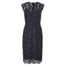 Buy Jigsaw V Neck Lace Dress, Ash Online at johnlewis.com