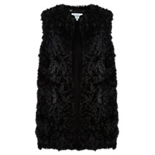 Buy Jigsaw Lamb Leather Kalgan Gilet, Black Online at johnlewis.com