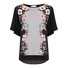 Buy Oasis V and A Appleby Print Top, Black/Multi Online at johnlewis.com