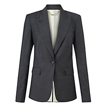 Buy Jigsaw London Pinspot Jacket, Charcoal Online at johnlewis.com