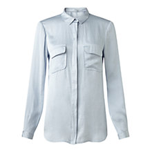 Buy Jigsaw Crocus Drape Shirt, Cloud Online at johnlewis.com