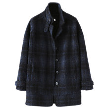 Buy Poetry Wool Blend Cocoon Coat, Blue/Black Online at johnlewis.com