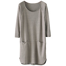 Buy Poetry Hemp Cotton Jersey Tunic Top, Washed Grey Online at johnlewis.com