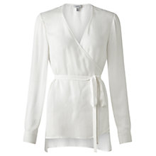 Buy Jigsaw Silk Wrap Tunic Top, Ivory Online at johnlewis.com