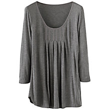 Buy Poetry Box Pleats Top, Grey Brown Online at johnlewis.com