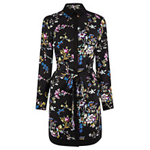 Buy Oasis V&A Shirt Dress, Multi Black Online at johnlewis.com